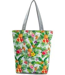 borsa a spalla grande capacità borsa della borsa della spesa della borsa della stampa della tela di canapa delle donne