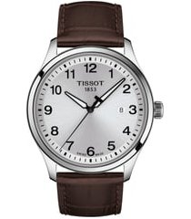 tissot gent xl classic leather strap watch, 42mm