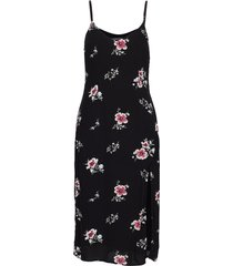 side slit midi dress knälång klänning svart abercrombie & fitch