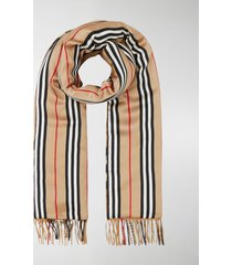 burberry check and icon stripe puffer scarf