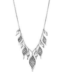 sterling silver classic chain wave necklace