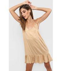 vestido camel nano virginia