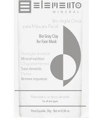 argila máscara facial elemento mineral cinza 30g