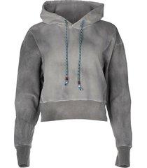 grey tie dye cropped hoodie