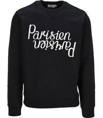 maison kitsuné maison kitsune parisien mirror sweatshirt