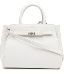 mulberry small belted bayswater tote bag - white