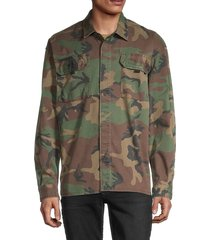 hudson men's long-sleeve camo-print shirt - army camo - size l