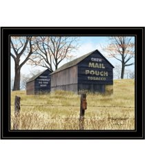 "trendy decor 4u treat yourself mail pouch barn by billy jacobs, ready to hang framed print, black frame, 27"" x 21"""