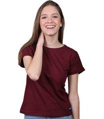 camiseta vinotinto de algodón - domenica