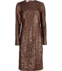 paillette crewneck dress