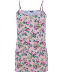 top tiras estampado flor tropical color rosado,talla 14
