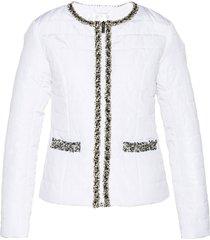 giacca trapuntata con bordi decorati (bianco) - bpc selection