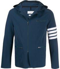 thom browne 4-bar compression jacket - blue
