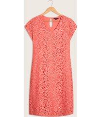 vestido corto encaje costa rosado 6