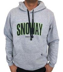 moletom snoway logo cinza - kanui