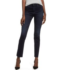 women's ag the isabelle high waist ankle straight leg jeans, size 28 - blue