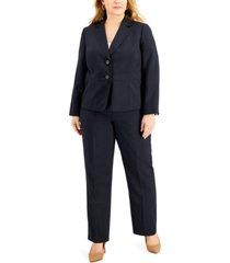 le suit plus size notched-lapel pantsuit