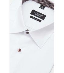 koszula bexley 2400e długi rękaw slim fit biały