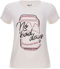 camiseta no bad days color blanco, talla l