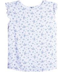 blusa mujer print mini hojas color blanco, talla l