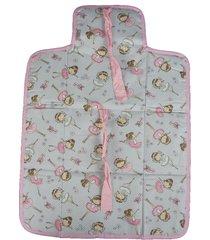 trocador portátil, multimarcas sem bordado, tricoline 100% algodão - bailarina rosa nova