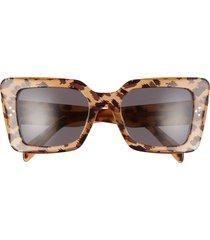 celine 54mm cat eye sunglasses in animal/smoke at nordstrom
