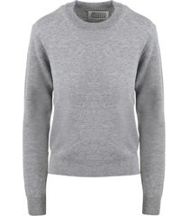 maison margiela elbow patches pullover