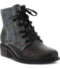 l'artiste women's mazoya unique tooled metallic booties women's shoes