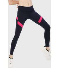 leggings azul-fucsia reebok workout ready mesh tights