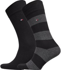 th men rugby sock 2p underwear socks regular socks svart tommy hilfiger