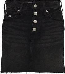 mid rise mini skirt kort kjol svart calvin klein jeans