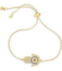 crystal hamsa slider bracelet