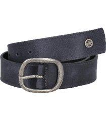 cinturón cuero y remaches azul