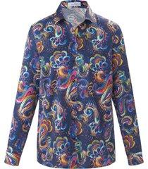 blouse van 100% katoen met lange mouwen van looxent blauw