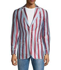 striped cotton & silk jacket
