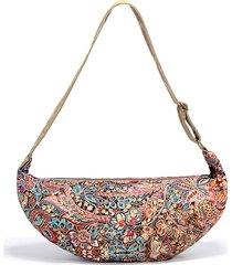 brenice spalla floreale casual in tela vintage borsa borsa a tracolla borsa da donna