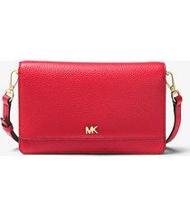 mk borsa a tracolla convertibile in pelle martellata - rosso brillante (rosso) - michael kors