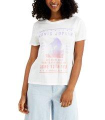 junk food women's janis joplin-graphic cotton t-shirt