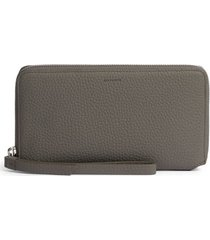 women's allsaints fetch leather phone wristlet - grey