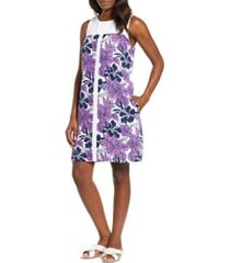 tommy bahama blissful blooms shift dress, size x-small in vivid purple at nordstrom