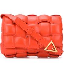 bottega veneta cassette padded crossbody bag - orange