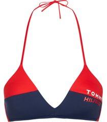 tommy hilfiger triangle bikinitop - rood