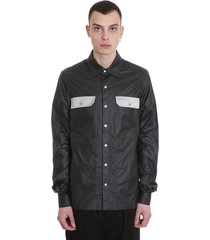 rick owens outher shirt shirt in black polyester