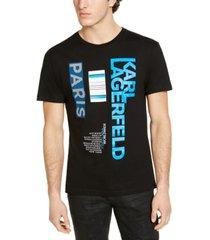 karl lagerfeld paris men's logo and graphic t-shirt