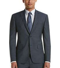 dkny blue check extreme slim fit suit