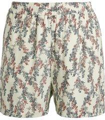 bcbgmaxazria women's floral pull-on shorts - gardenia - size xs