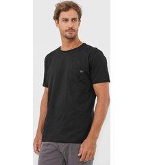 camiseta colombo bolso preta - preto - masculino - algodã£o - dafiti
