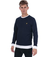 lyle and scott mens contrast sweatshirt size 2xl in blue