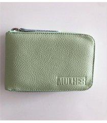 billetera verde mulher mini