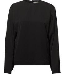 avila blouse lange mouwen zwart totême